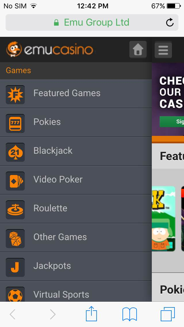 Emucasino-mobile-LHS-menu