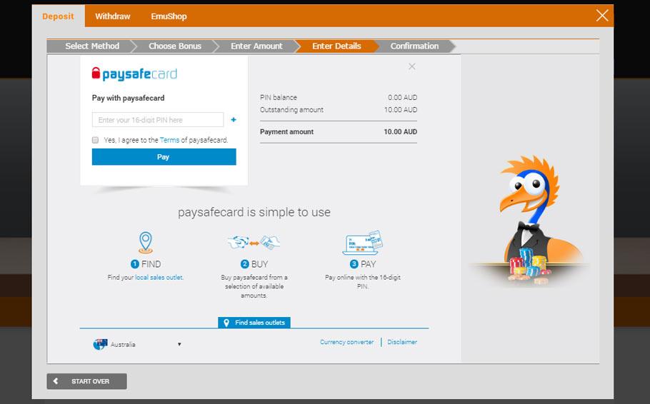 paysafecard-emu-deposit-screenshot